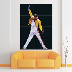 Iconic Freddie Mercury Block Giant Wall Art Poster (P-1804)