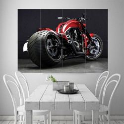 Harley Davidson v Rod Motorcycle Block Giant Wall Art Poster (P-1805)