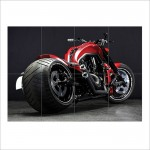 Harley Davidson v Rod Motorcycle Block Giant Wall Art Poster