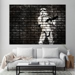 Banksy Star Wars Stormtrooper Block Giant Wall Art Poster