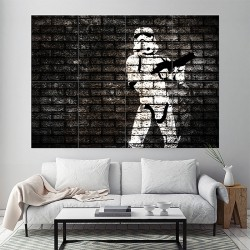 Banksy Star Wars Stormtrooper Block Giant Wall Art Poster (P-1807)