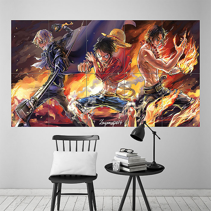 One Piece Three Brothers Ace Sabo And Luffy Block Giant