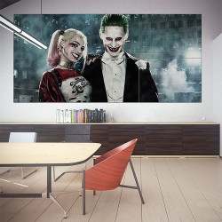 Harley Quinn and Joker in Suicide Squad Block Giant Wall Art Poster (P-1812)