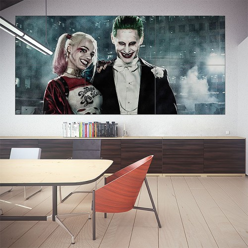 Harley Quinn and Joker in Suicide Squad Block Giant Wall Art Poster
