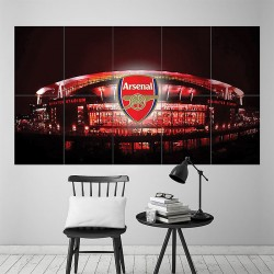 Arsenal Fc football club Emirates Stadium London Block Giant Poster (P-1815)