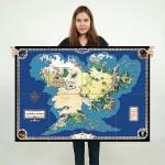 โปสเตอร์ ภาพแผนที่ Map of Middle Earth