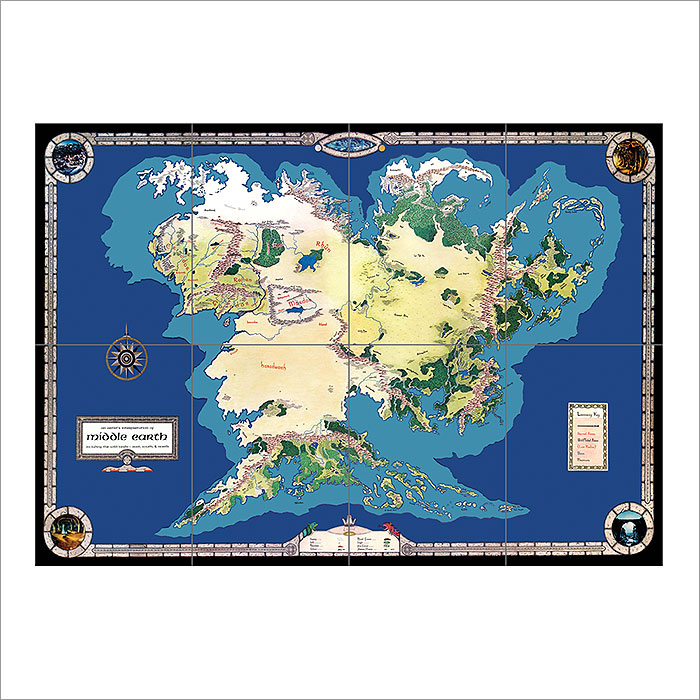 Of middle earth giant wall art poster map of middle earth giant wall art poster gumiabroncs