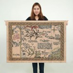 Maps of Middle Earth Giant Wall Art Poster