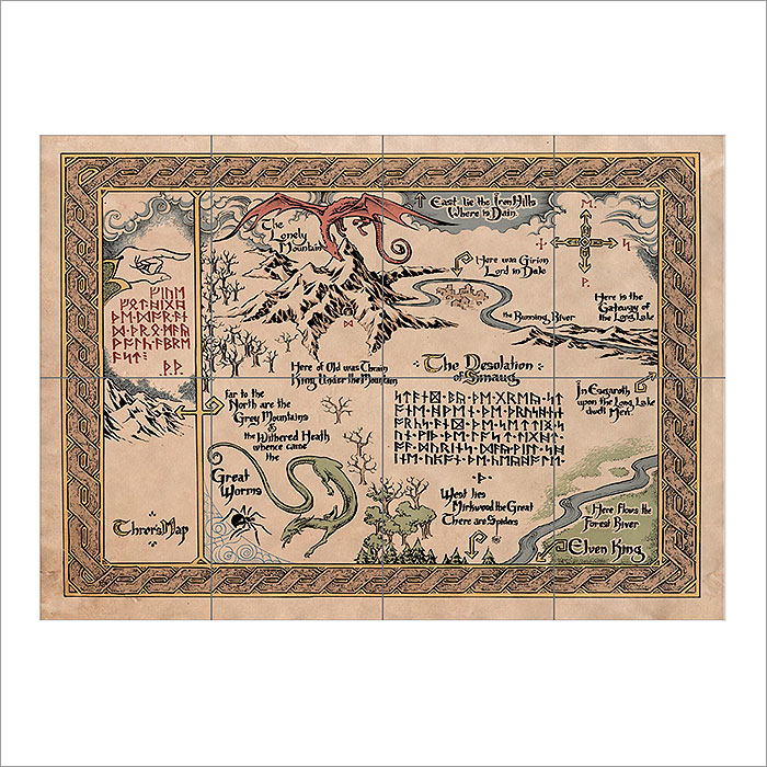 Middle Earth Map Large.Maps Of Middle Earth Giant Wall Art Poster