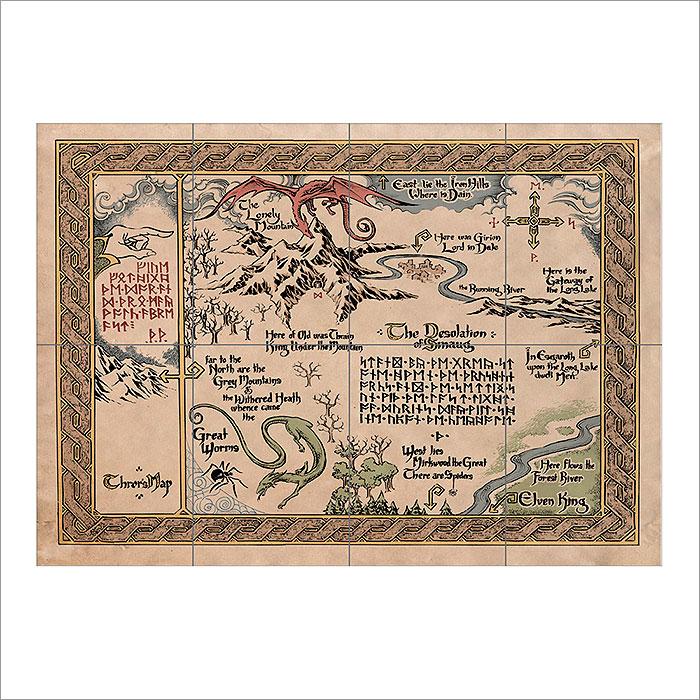 Maps of Middle Earth Wand-Kunstdruck Riesenposter