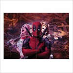 Deadpool Harley Quinn Concept Art Block Giant Wall Art Poster