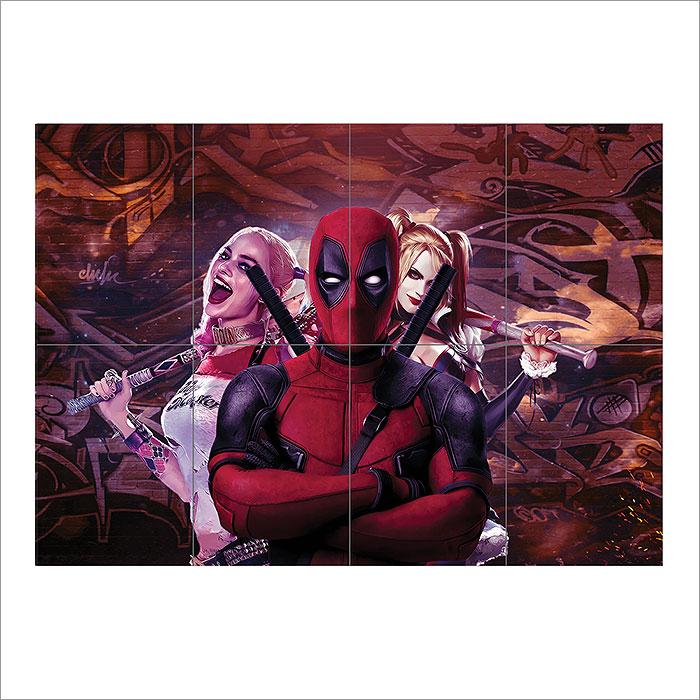 Deadpool Harley Quinn Concept Art Block Giant Wall Art Poster
