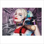 Harley Quinn Margot Robbie Suicide Squad Block Giant Wall Art Poster