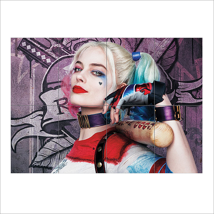 Harley Quinn Margot Robbie Suicide Squad Block Giant Wall