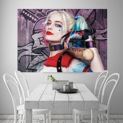 Harley Quinn Margot Robbie Suicide Squad Block Giant Wall Art Poster (P-1835)