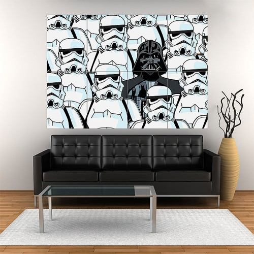 Dark Side Star Wars Art Block Giant Wall Art Poster