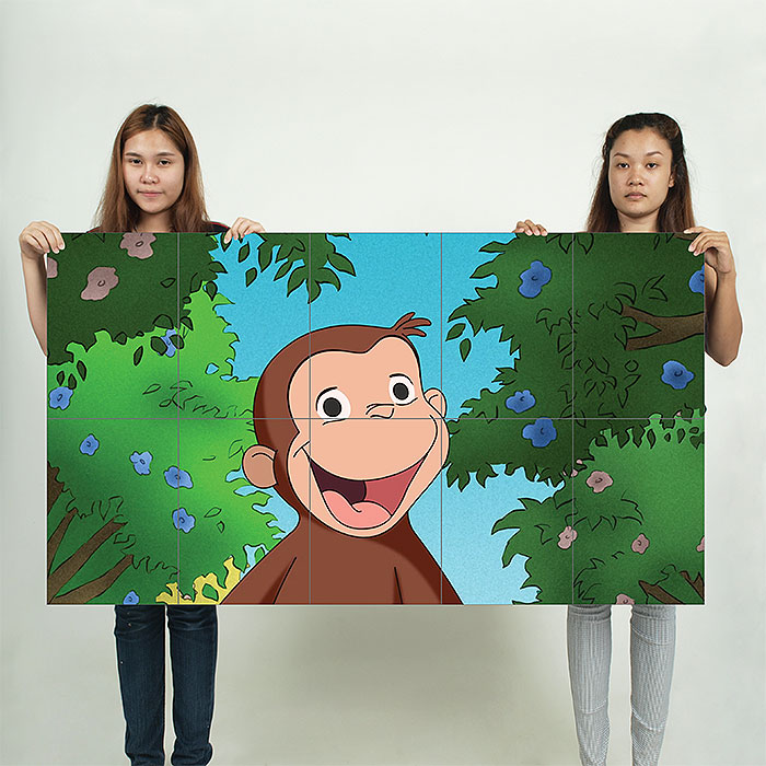 Curious George Block Giant Wall Art Poster