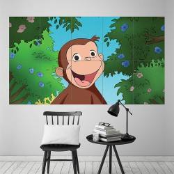 Curious George Block Giant Wall Art Poster (P-1843)