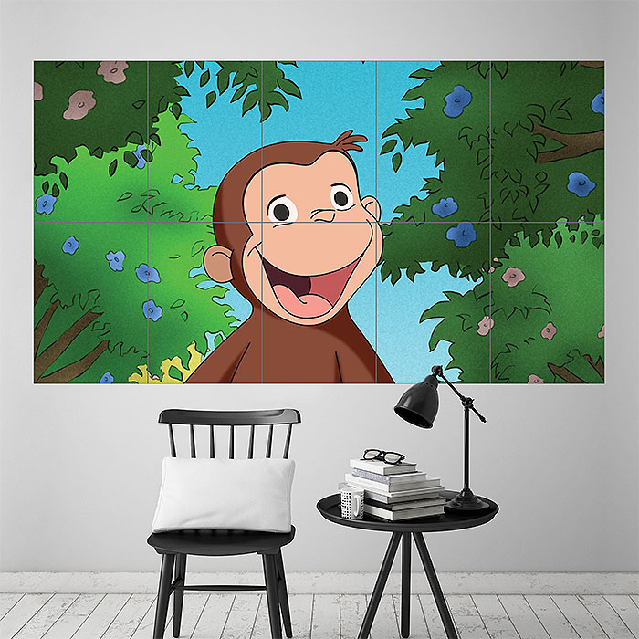 Curious George Block Giant Wall Art Poster Part 77