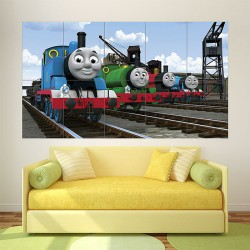 Thomas Tank and Friends kids Block Giant Wall Art Poster (P-1844)