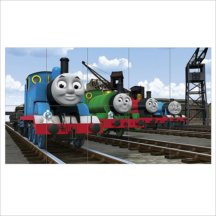 Thomas Tank And Friends Kids Block Giant Wall Art Poster