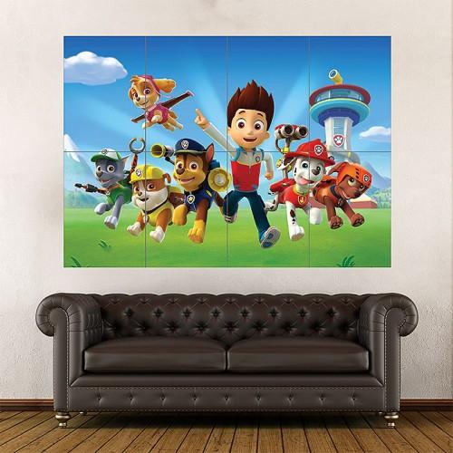 paw patrol kids wand kunstdruck riesenposter. Black Bedroom Furniture Sets. Home Design Ideas