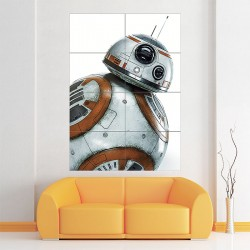 โปสเตอร์ ขนาดใหญ่ สตาร์ วอร์ส บีบีเอท Star Wars BB-8 Droid  (P-1846)