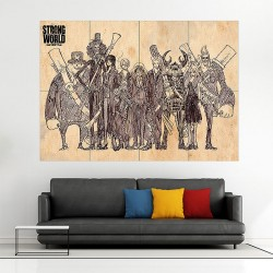One Piece Luffy Vintage Style Block Giant Wall Art Poster (P-1849)