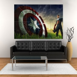 Captain America Shield Block Wall Art Poster (P-1852)