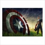 โปสเตอร์ ขนาดใหญ่ ภาพ  โล่กัปตันอเมริกา Captain America Shield