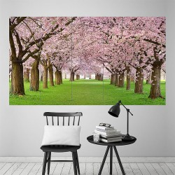 Cherry blossom spring Block Giant Wall Art Poster (P-1853)