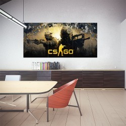 Counter strike global offensive CS:GO Block Giant Wall Art Poster (P-1854)