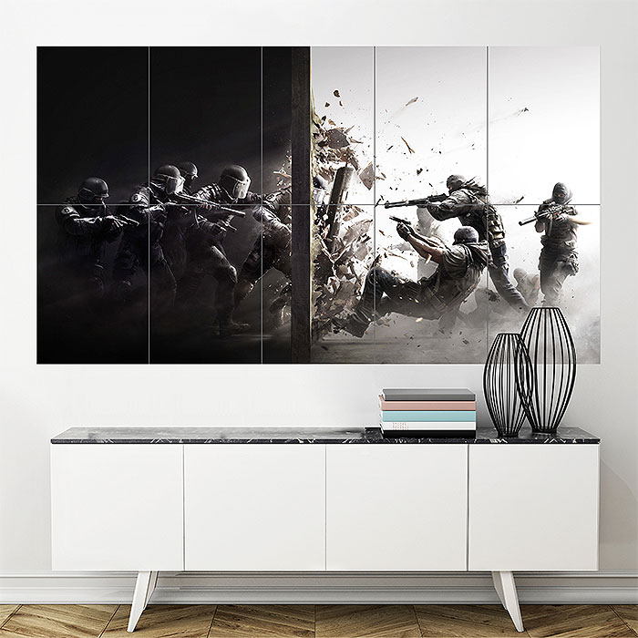 Wall Art Posters clancy's rainbow six siege block giant wall art poster