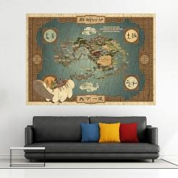 โปสเตอร์ ขนาดใหญ่ แผนที่ Map of the Avatar World (P-1857)