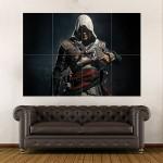 Assassin's Creed 4 Black Flag Game Battle Ship  Block Giant Wall Art Poster