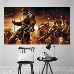 Gears of War Game Battle Block Giant Wall Art Poster (P-1863)