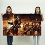 Gears of War Game Battle Block Giant Wall Art Poster