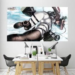 Mikasa Ackerman Shingeki No Kyojin Attack on Titan Block Giant Wall Art Poster (P-1870)