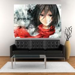 Shingeki no Kyojin Mikasa Ackerman Attack on Titan Block Giant Wall Art Poster (P-1872)
