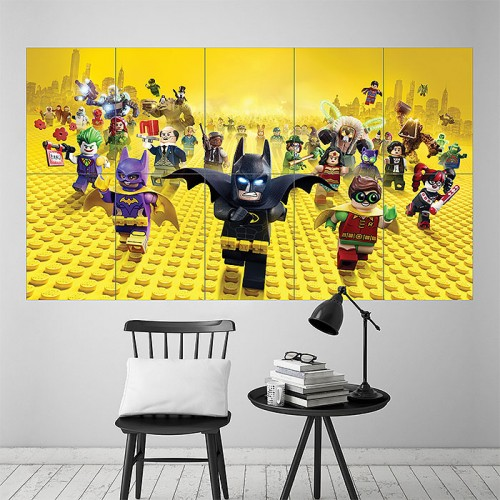 2017 the Lego Batman Movie Block Giant Wall Art Poster