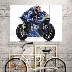 Valentino Rossi  Suzuki Motogp Bike Block Giant Wall Art Poster (P-1875)