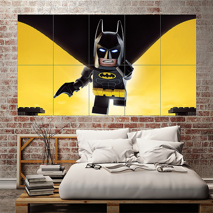 The Lego Batman Block Giant Wall Art Poster