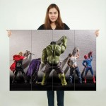 Superhero Peeing on Walls Block Giant Wall Art Poster