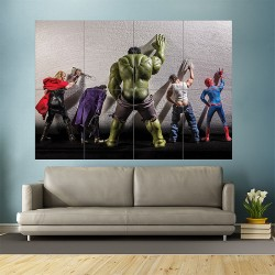 Superhero Peeing on Walls Block Giant Wall Art Poster (P-1880)