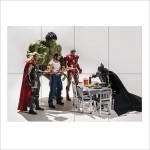 Superhero Fast Food Block Giant Wall Art Poster