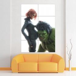 โปสเตอร์ ขนาดใหญ่ Superhero pregnant Black Widow Hulk (P-1882)