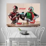 Mask Rider Steak Block Giant Wall Art Poster