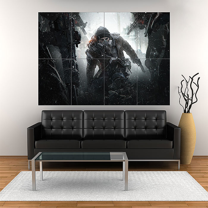 Giant Wall Art clancy's the division survival block giant wall art poster