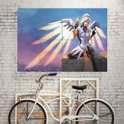 Mercy Overwatch Artwork Block Giant Wall Art Poster (P-1898)
