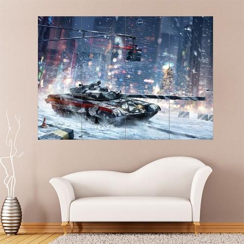 Armored Warfare Winter Tank Battle Block Giant Wall Art Poster